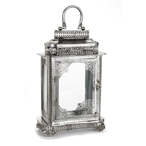 Metal Lantern Antique Silver