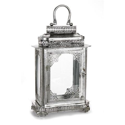 Metal Lantern Antique Silver