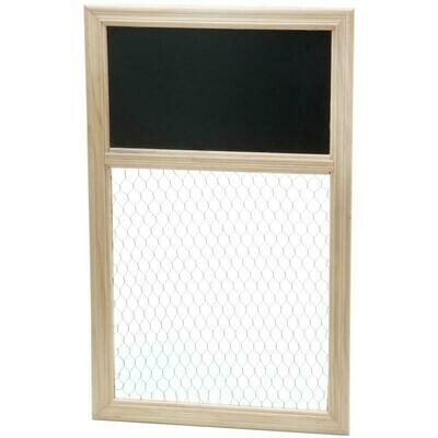 Poultry Wire and Chalkboard Frame