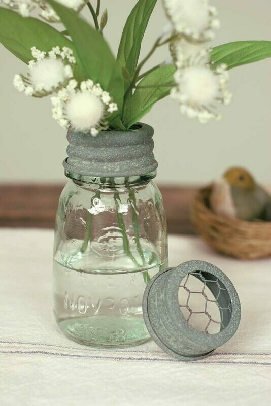 Quarter Pint Mason Jar Flower Frog