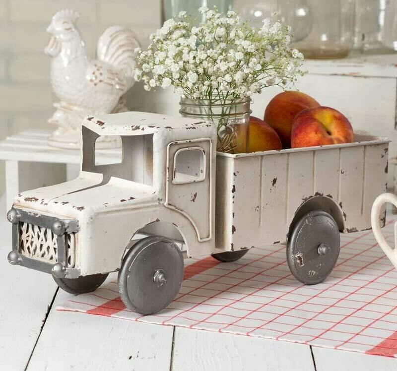 White Truck Planter