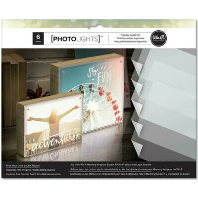 WR Photolights Printable Backlit Film 6 piece pack