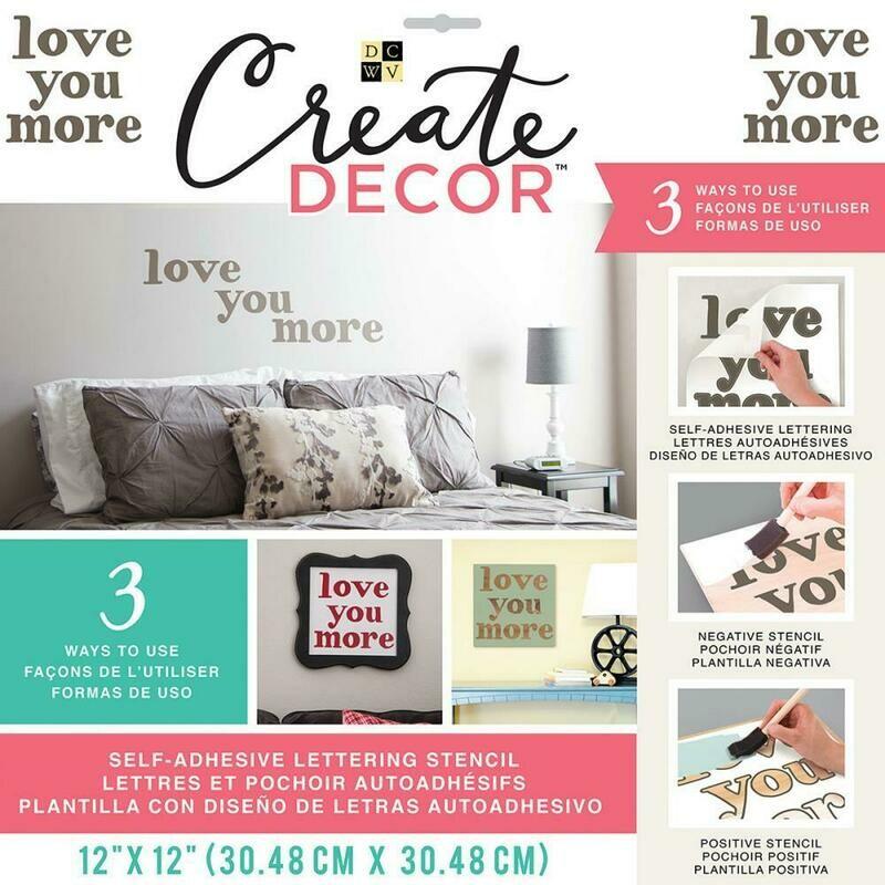 Create Decor Stencil- Love You More- 12 x 12