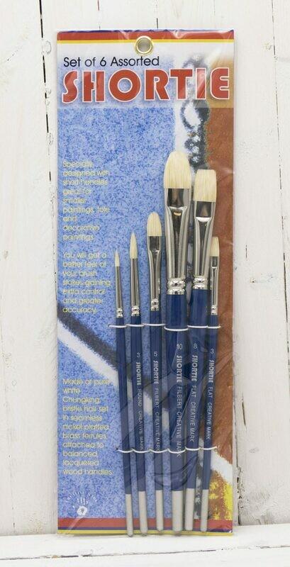 Creative Mark Shortie Bristle Brush Set of 6 - Mixed