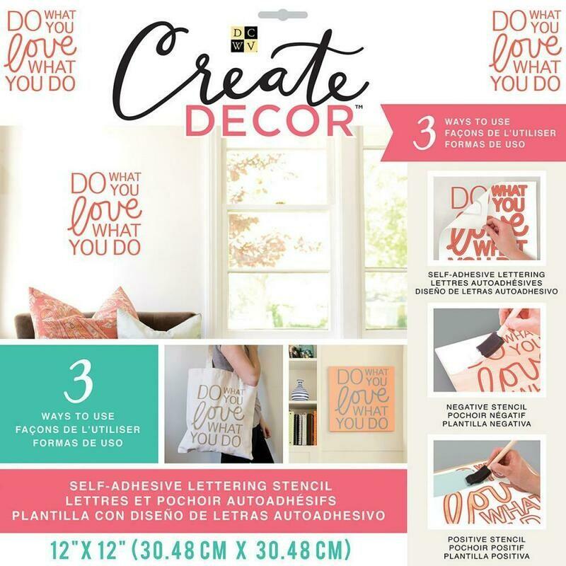 Create Decor Stencil- Do What You Love What You Do- 12 x 12