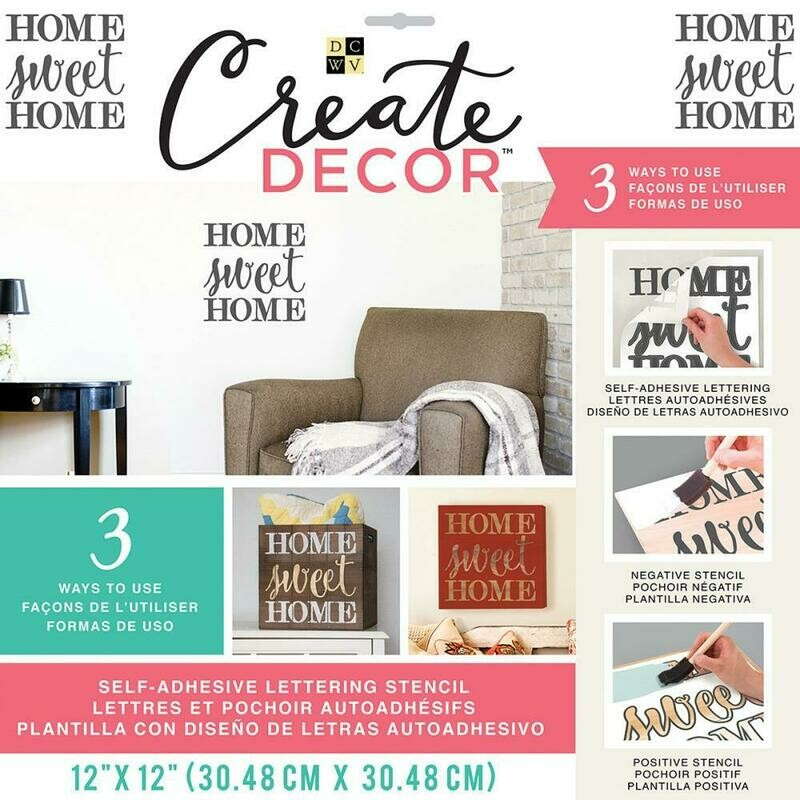 Create Decor Stencil- Home Sweet Home- 12 x 12