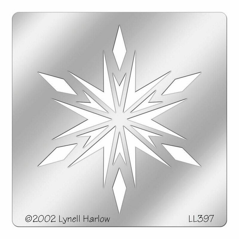 Crystal Snowflake Metal Stencil