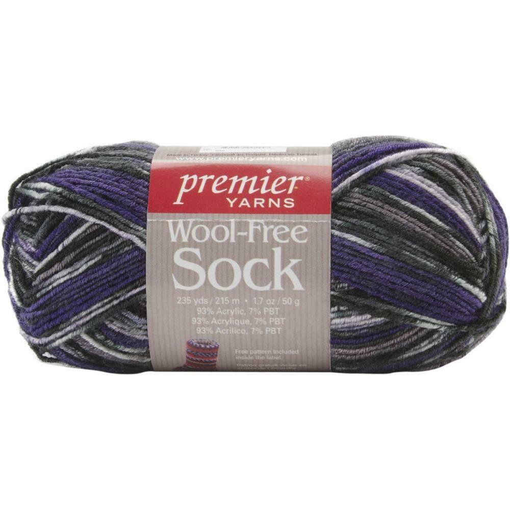 Wool Free Sock Yarn 235 Yards Grapes