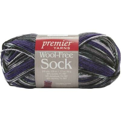 Wool Free Sock Yarn 235 Yards Grapes