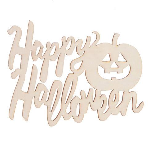 Wood Laser Word- Happy Halloween