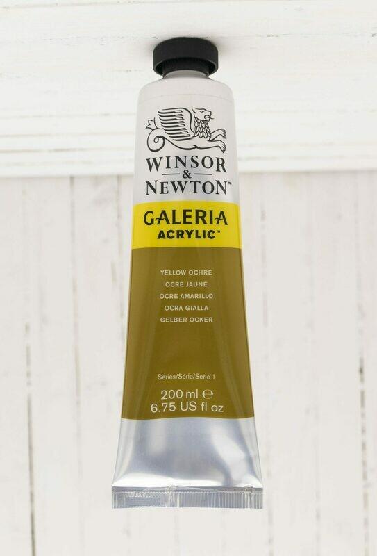 Winsor & Newton Galeria Acrylic 200 ml tube Yellow Ochre