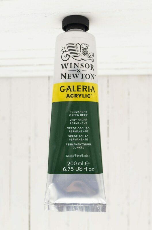Winsor & Newton Galeria Acrylic 200 ml tube Permanent Green Deep