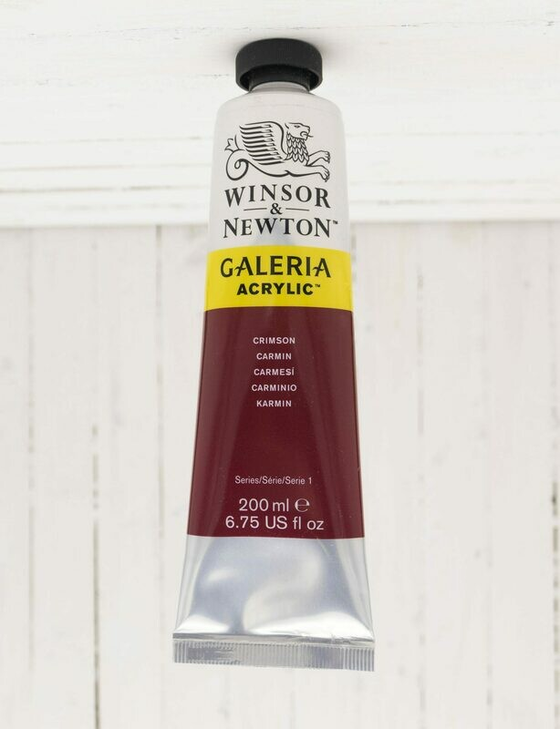 Winsor & Newton Galeria Acrylic 200 ml Tube Crimson