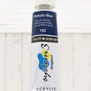 Daler-Rowney System 3 Acrylic - 75 ml Tube - Phthalo Blue