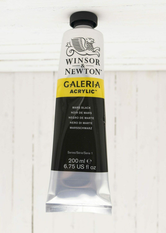 Winsor & Newton Galeria Acrylic 200 ml tube Mars Black