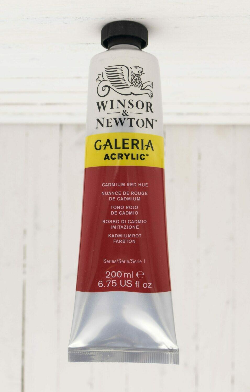 Winsor & Newton Galeria Acrylic 200 ml tube Cadmium Red Hue