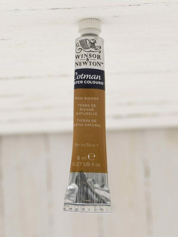 Winsor & Newton Cotman Watercolor - 8 ml Tube - Raw Sienna