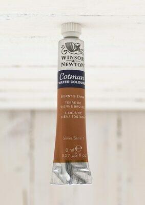 Winsor & Newton Cotman Watercolor - 8 ml Tube - Burnt Sienna