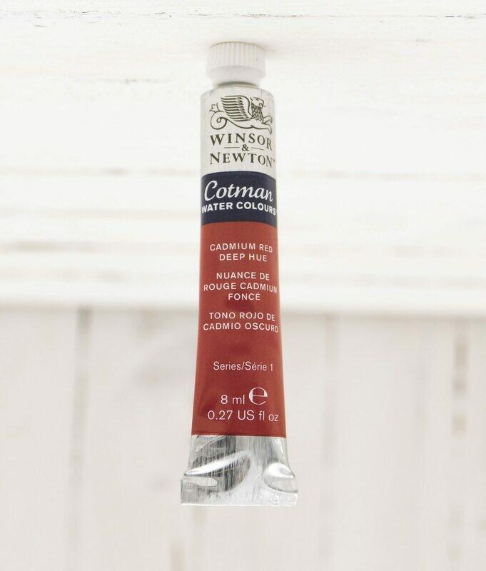 Winsor & Newton Cotman Watercolor 8 ml Tube Cadmium Red Deep Hue