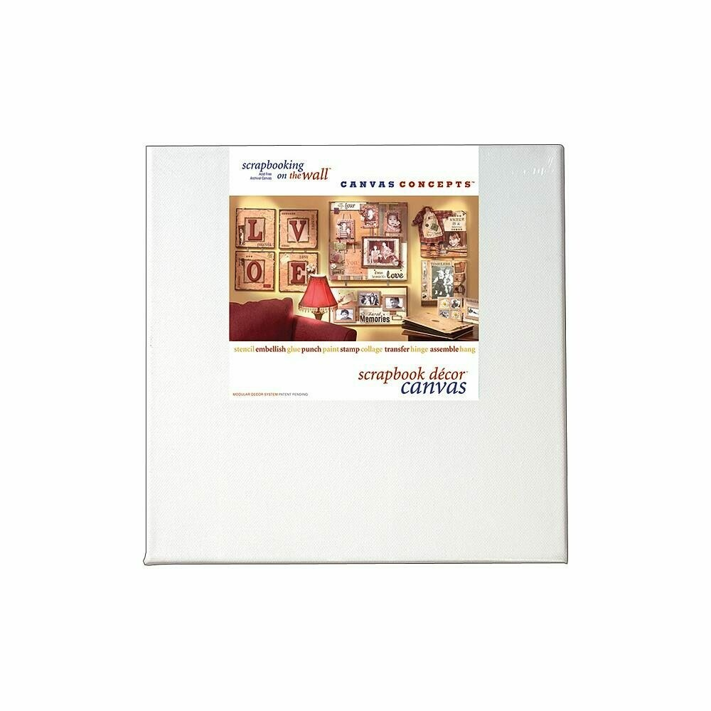 White 2 pack Fancy Canvas 8 x 8