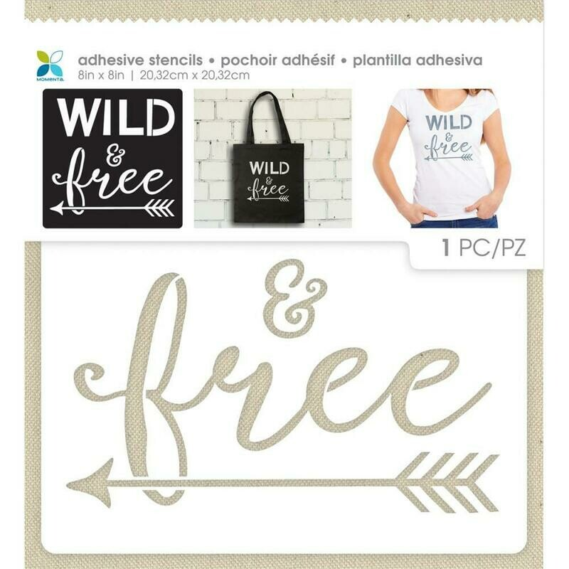 Wild and Free Adhesive Stencil 8 x 8
