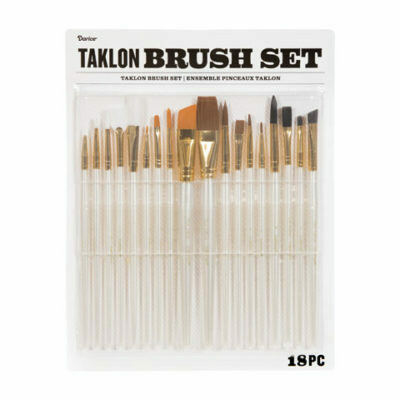 Darice® Taklon Paint Brush Set: 18 Pieces -Pre-order
