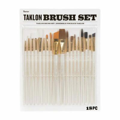 Darice® Taklon Paint Brush Set: 18 Pieces -Pre-order