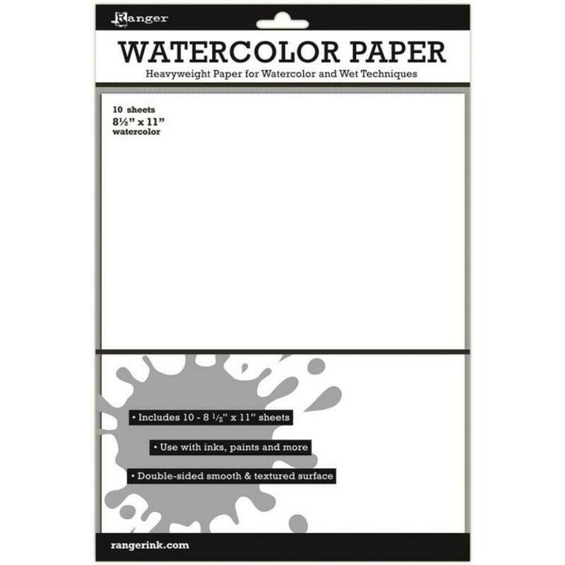 Watercolor Paper 10 sheets (Heavyweight 8.5