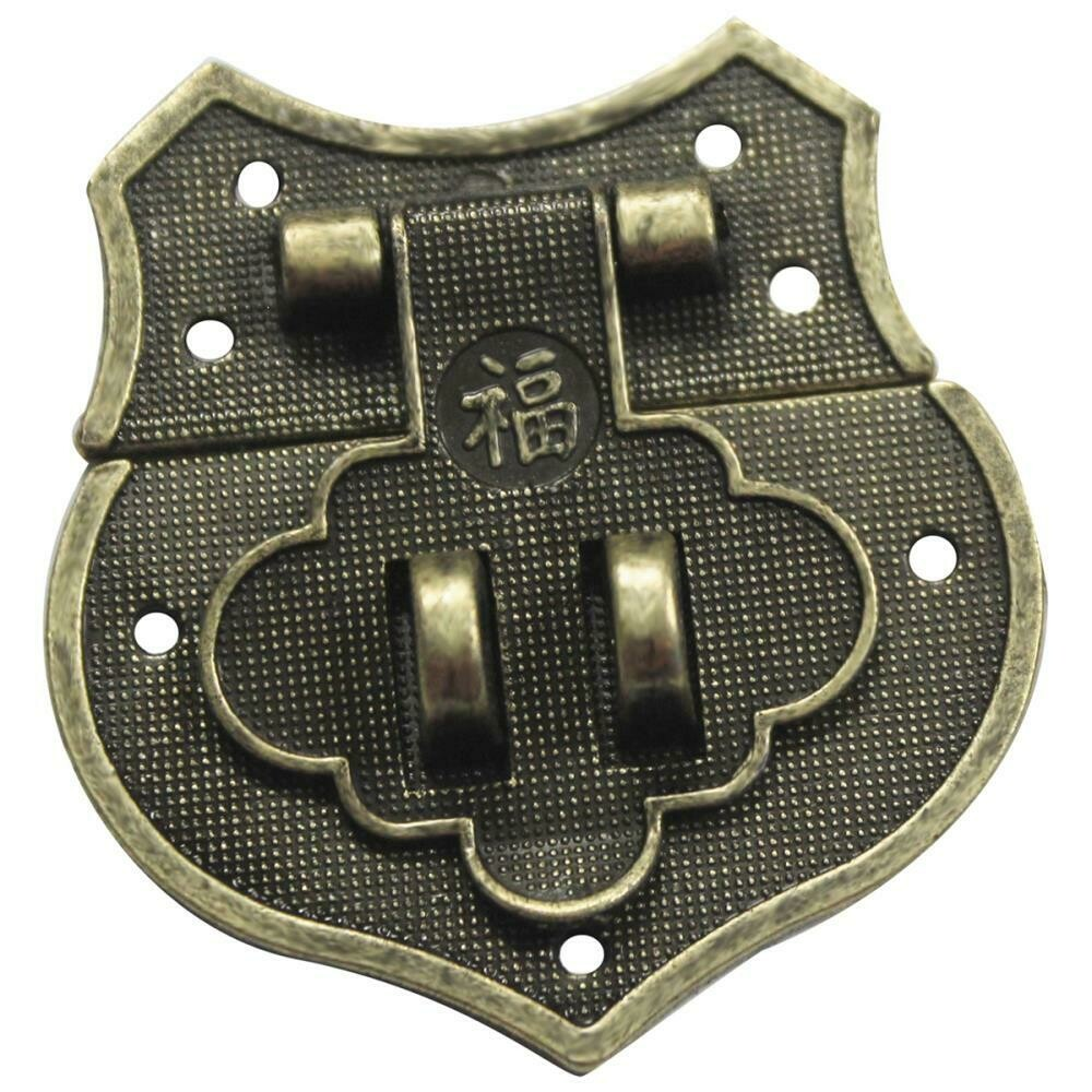 Vintage Shield Catch Brass Embellishments (8 each)