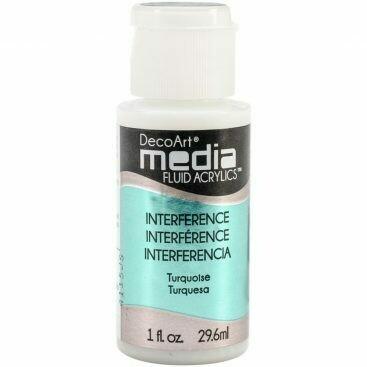 DecoArt Media Fluid Acrylic Paint - Phthalo Turquoise 1 fl oz