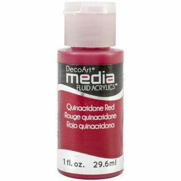 DecoArt Media Fluid Acrylic Paint - Quinacridone Red 1 fl oz