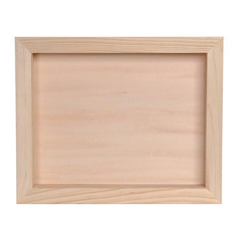 Unfinished Wood Shadow Box 8.5 x 11
