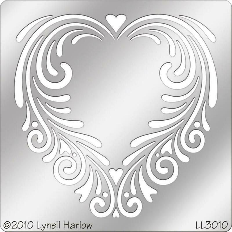 Tole Heart Metal Stencil