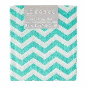 Fabric Fat Quarter - Blue Chevron 18