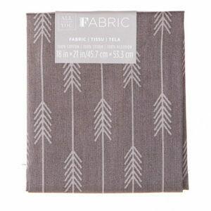 Fabric Fat Quarter- Gray Tonal (arrows) 18