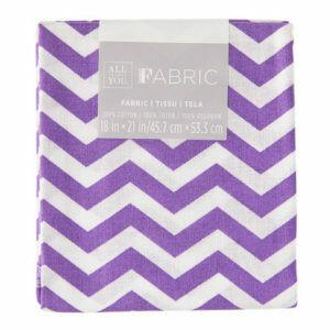 Fabric Fat Quarter - Purple Chevron 18