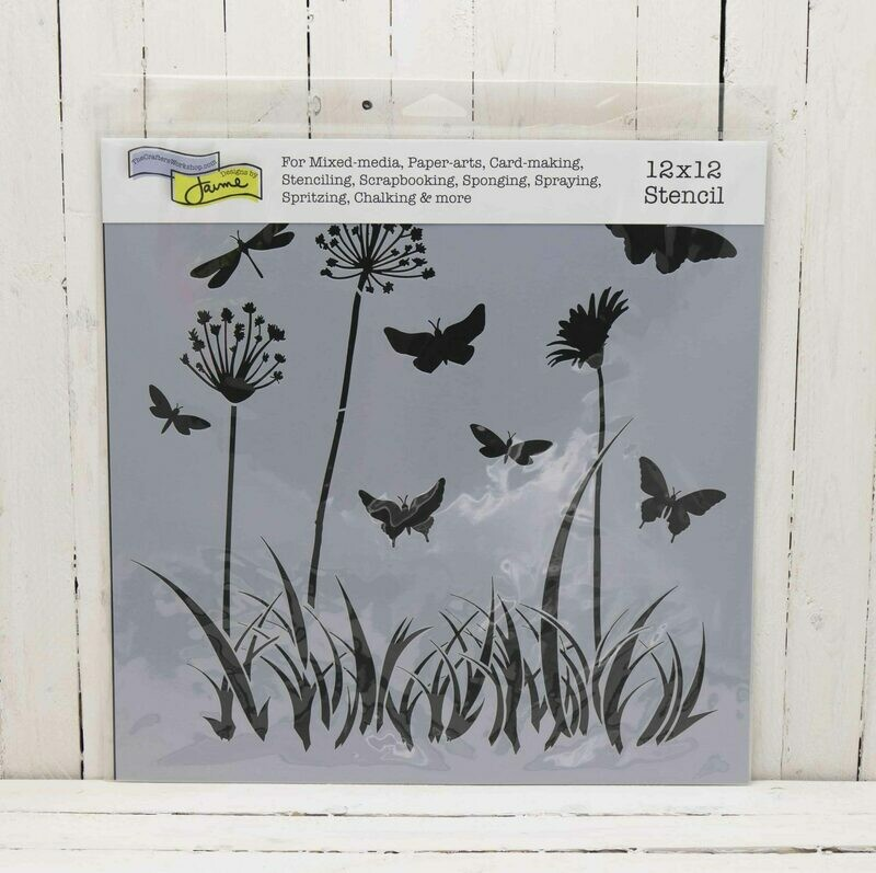 The Crafters Workshop Template -12 x 12 Inches - Butterfly Meadow