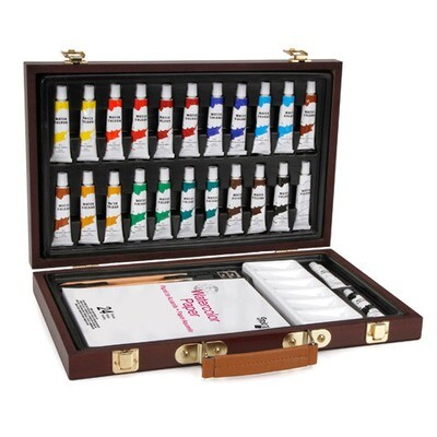 Studio 71 Wood Box Watercolor Set- 34 pcs