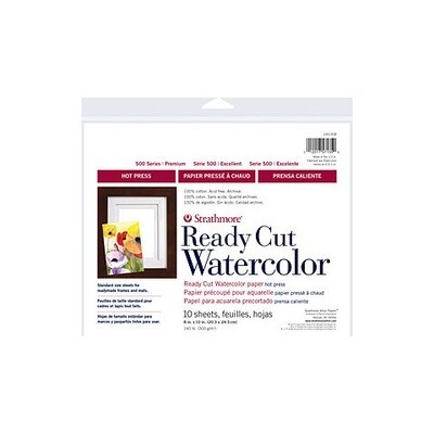 Strathmore Ready Cut Watercolor Paper 10 sheet pack 8 x 10