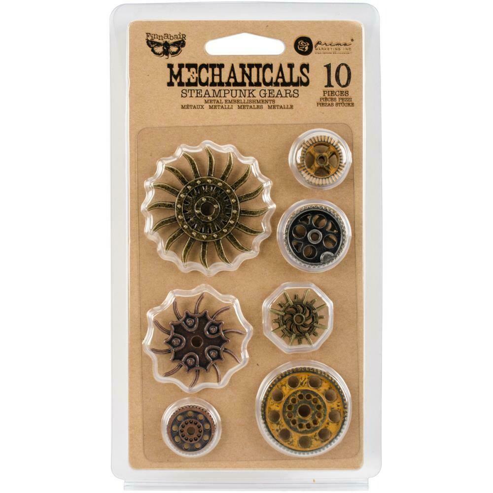 Steampunk Gears Metal Embellishments (10pc)