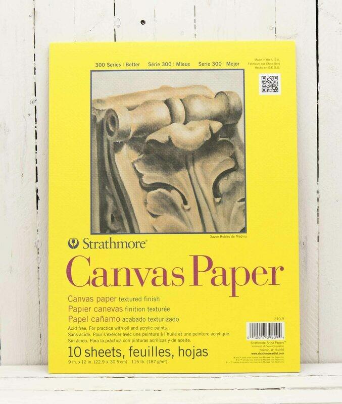 Strathmore 300 Series Canvas Pad - 9x12
