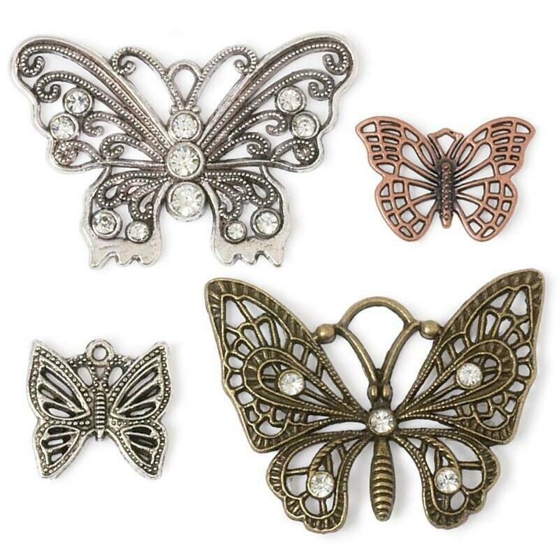Steampunk Butterflies 4 piece