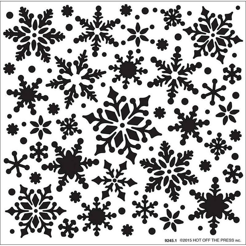 Snowflakes Stencils 6 x 6