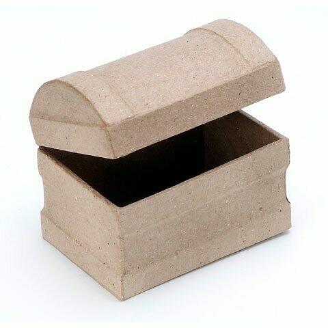 Small Paper Mache Chest 3.5 x 2 x 2.75