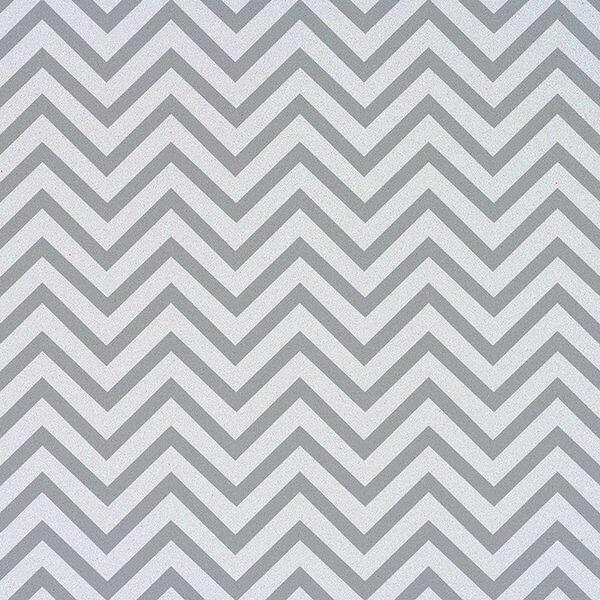 Silver Chevron Paper 12 x 12