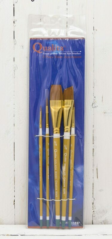 Qualita™ Short Handled Brush - Value Set of 5