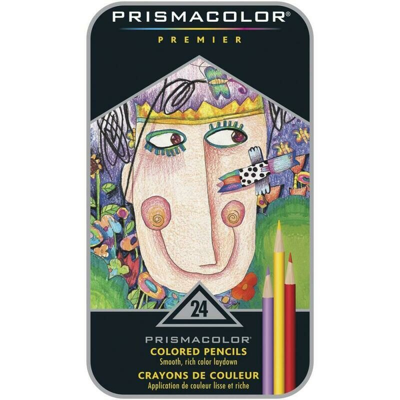 Prismacolor Premier Colored Pencils - Set of 24 - Assorted Colors