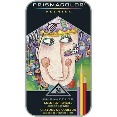 Prismacolor Premier Colored Pencils - Set of 24 - Assorted Colors