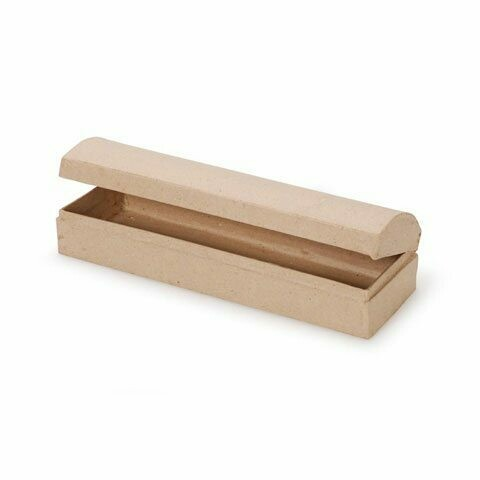 Paper Mache Pencil Case (9 x 2.75 x 2)