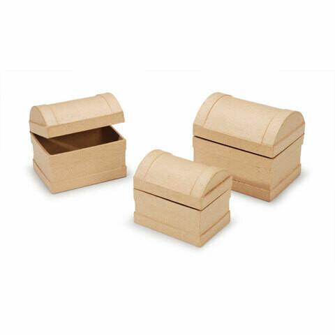 Paper Mache Nesting Chest Set (Three in the Set)